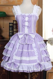 Purple Lolita Dress Lace Bow-knot Sweet Lolita Dress