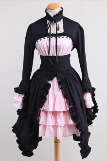 Pink Maid Dress Black And Pink Sweet Lolita Maid Dress
