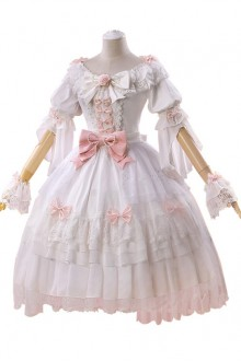 Lolita Wedding Dress Elegant Pink Bow-knot Sweet Lolita Wedding Dress
