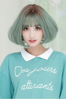 Korean Wigs & Bangs Fashion Air Bangs Fluffy Sweet Cute Curly Wig