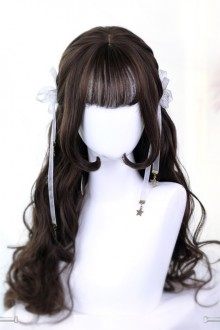 Hime Cut Wig Inner Buckle Long Curly Hair Lolita Wig