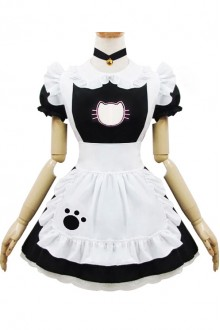 Cat Maid Costume Embroidered Sexy Little Cat Sweet Lolita Dress