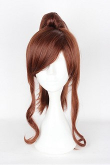 Brown Ponytail Wig Sailor Moon Long Curly Cosplay Wig