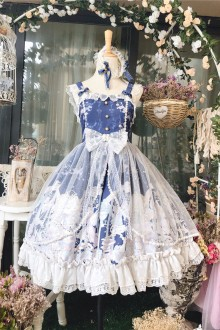 Snow Angel Court Style Sling Lace Sweet Lolita Dress