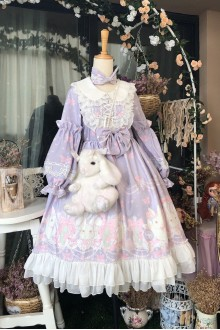 Pink Purple Perfume Rabbit Sweet Lolita Dress