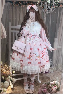 Pink Strawberry Dessert Lace Sweet Lolita Dress