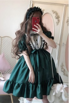 Downton Abbey Dark Cross Gothic Lolita Dress