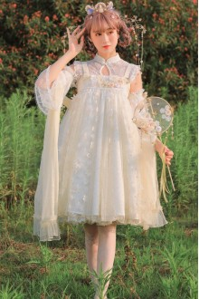 Chinese Style Flower Vine Sweet Lolita Dress