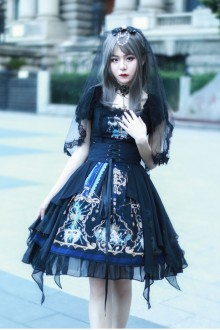 Gods Redemption Dark Gothic Lolita OP Dress