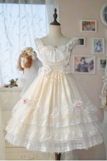 Lolita Wedding Dress Star Flower Love Sweet Lolita Wedding Dress