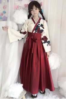 "Original ""Love"" Retro Kimono Sweet Lolita Dress Long Paragraph 2 Colors"