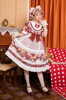 "Original""Garden Panda""Pastoral Style Sweet Lolita OP Dress 2 Colors"