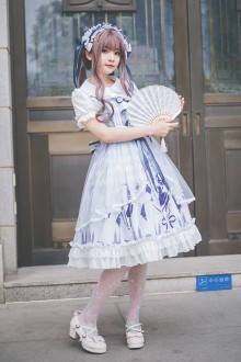 "Original ""Gemini"" Printed Sweet Lolita JSK Dress"