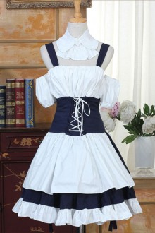 Chobit Dresses Cosplay Costume Classic Lolita Dress Set