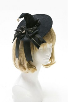 Lolita Witch Hat Halloween Witch Mini Pointed Gothic Lolita Hat