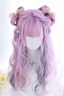Purple Layered Gradient Middle Long Curly Hair Sweet Lolita Wig