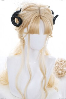 Golden Long Curly Hair Lolita Wigs