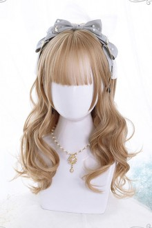 Brown Or Black Color Medium Length Curly Hair Classic Lolita Wigs