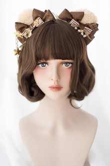 Brown Cute Short Curly Hair Classic Lolita Wig