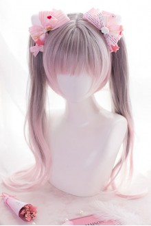 Gray & Pink Gradient Double Ponytail Sweet Lolita Wig