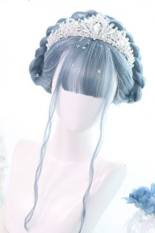 Blue Mermaid's Tears Long Curly Hair Lolita Wigs