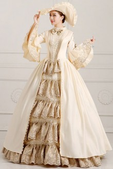 Solemn And Elegant Palace Style Stage Costume Lolita Prom Dress