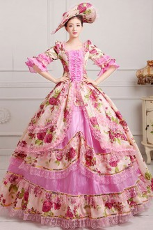 Retro Palace Style Polychromatic Lolita Prom Dress