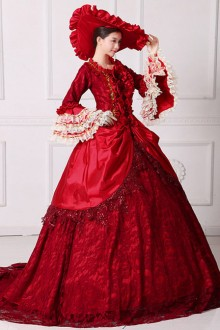 Gorgeous Bow-knot Red Trailing Wedding Dress Lolita Prom Dress