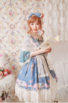 The Poetry Of Roses Elegant Short Sleeves Short Classic Lolita Dress