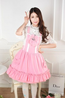 Autumn And Winter Pink Cute Bow-knot Sweet Lolita Dress
