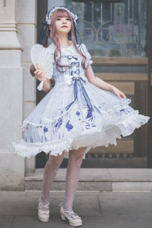 Gemini Qi Lolita Plus Size Sweet Lolita JSK Dress
