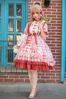 Pussy Cat Long Sleeve Sweet Plus Size Chinese Lolita OP Dress