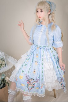 Elk Fairy Short Sleeves Sweet Plus Size Lolita OP Dress