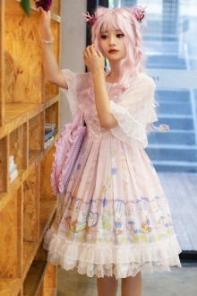 Lemon Duck Sleeveless Pink Sweet Plus Size Lolita JSK Dress