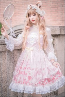 Cherry Blossoms Sweet Plus Size Lolita OP Dress