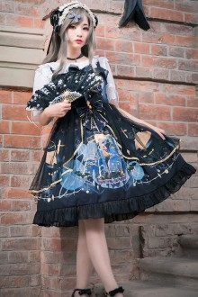 Extreme Night Vintage Gothic Plus Size Lolita JSK Dress