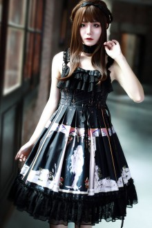Naxos Dark Gothic Plus Size Lolita JSK Dress