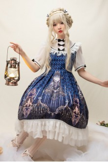 Devil's Tears Gothic Plus Size Lolita OP Dress