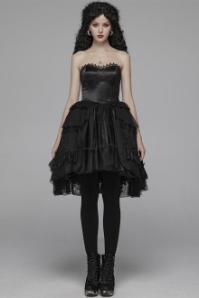 Punkrave Pyon Lace Punk Gothic Lolita Wrap JSK Dress