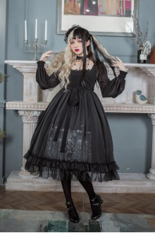 Dancing With The God Of Death Gothic Lolita OP Dress