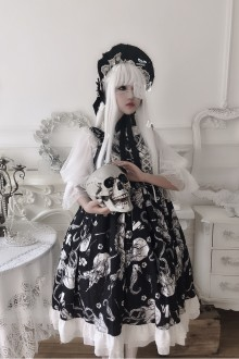 Human Bone Jellyfish Museum Gothic Lolita JSK Dress