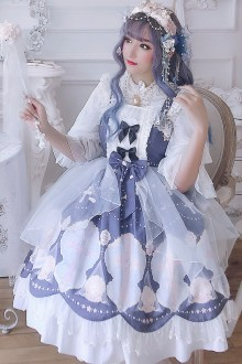 Shell Cross Chiffon Sweet Lolita JSK Dress