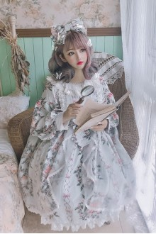 Japanese Four Seasons Birds Sweet Lolita OP Dress