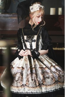 Retro High Waist Cross Sling Classic Lolita JSK Dress