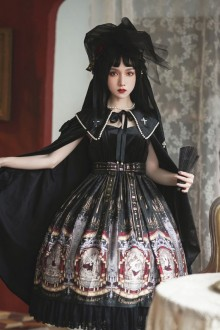 Rabbit Retro Velvet High Waist Cross Sling Classic Lolita JSK Dress