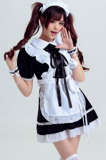 Black Cosplay Maid Costume Maid Dress