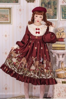 Cute Deer Sweet Lolita OP Dress