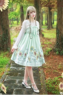 Sunflower Printing Sweet Lolita JSK Dress