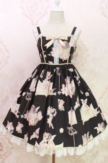 Oil Painting Angel Series Sweet Lolita Sling JSK Dress