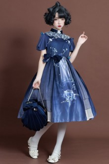 The Moon In The Mirror Series Chinese Style Elegance Classic Lolita Dress